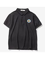 Men's Casual Simple Summer Polo,Solid Pattern V Neck Short Sleeve Cotton Medium