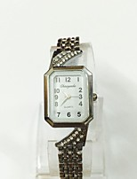 Women's Ladies' Fashion Watch Bracelet Watch Quartz Alloy Band Vintage Casual Silver