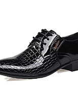 Men's Sneakers Comfort Patent Leather PU Spring Casual Black Flat