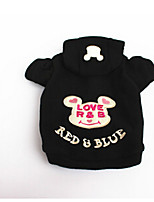 Dog Coat Dog Clothes Cute Casual/Daily Cartoon Black