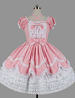 Women's Lolita Dress Cosplay Girl Sweet Lolita Classic/Traditional Lolita Elegant Princess Cosplay Lolita Dress Fashion Short SleeveShort /