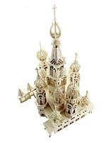 Пазлы 3D пазлы Строительные блоки Игрушки своими руками Архитектура Дерево Модели и конструкторы