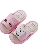 Girls' Sandals Comfort First Walkers Fabric Spring Fall Outdoor Casual Walking Magic Tape Low Heel Blushing Pink Blue Coffee Flat