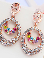 Euramerican Fashion Droplets  Multicolor Elegant  Luxury  Rhinestone  Women's  Party  Drop Earrings Gift Jewelry