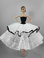Party/Evening Dresses For Barbie Doll Wind Flowers Dress For Girl's Doll Toy