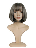 12inch  Grey Short Bobo Cosplay Full Wigs High Temperature Synthetic Hair Wig