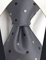 CXL21 Extra Long New For Men's Neckties Gray Dots 100% Silk Handmade Business Dress Casual Fashion