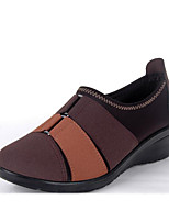Women's Sneakers Comfort Fabric Spring Casual Ruby Coffee Flat