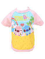 Dog Shirt / T-Shirt Dog Clothes Casual/Daily Cartoon Blushing Pink