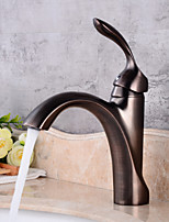AntiqueCeramic Valve One HoleBathroom Sink Faucet
