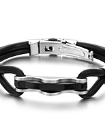 Men's Leather Bracelet Fashion Vintage Punk Hip-Hop Rock Stainless Steel PU Band Casual Unqiue Cool Geometric Jewelry For Sport Outdoor Dailywear
