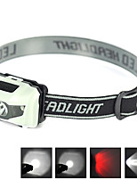 Mini Ultra-light Portable LED Headlamp Headlight Flashlight with Red LED For 3 AAA Batteries
