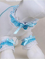 Dog Tuxedo Tie/Bow Tie Dog Clothes Cute Fashion Casual/Daily Lace Light Blue