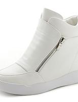 Da donna Sneakers Comoda PU (Poliuretano) Primavera Casual Comoda Bianco Nero Piatto