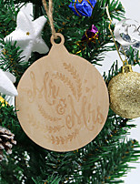 Wedding Halloween Party Accessories-1Piece/Set Ornaments Pattern / Print Natural Wood Wedding