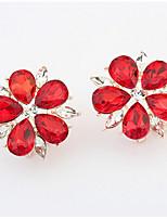 Euramerican Elegant Classic RhinestoneS Flowers Stud EarringsClassic Daily Stud EarringsMovie Jewelry