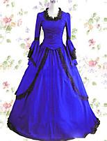 Einteilig/Kleid Niedlich Lolita Cosplay Lolita Kleider Vintage Kappe Langarm Bodenlänge Kleid Zum Andere