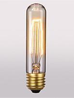 T10 ac220-240v 60w rétro atmosphère edison tungstène soie ampoule 1pcs