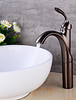 Contemporary CentersetCeramic Valve One Hole for  Oil-rubbed Bronze , Bathroom Sink Faucet