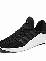 Men's Sneakers Comfort Tulle Spring Summer Casual Comfort Lace-up Flat Heel Black Gray Ruby Flat