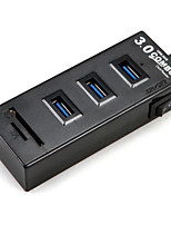 3Ports USB 3.0 High Speed HUB and SDTF Ultra Slim Simple black and white
