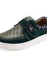 Мальчики Кеды Удобная обувь Кожа Весна Осень Для прогулок Повседневный Для прогулок На липучках На низком каблуке Бежевый ЗеленыйНа
