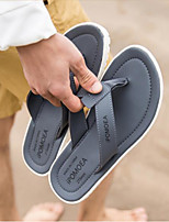 Men's Slippers & Flip-Flops Comfort PU Spring Summer Casual Comfort Camel Gray Black White Flat