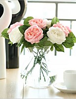 5 Branch Silk Roses Tabletop Flower Artificial Flowers