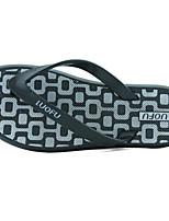Men's Slippers & Flip-Flops Comfort PU Spring Casual Comfort Blue Black Flat