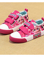 Girls' Flats Comfort First Walkers Canvas Spring Fall Casual Walking Comfort First Walkers Magic Tape Low HeelLight Pink Light Blue
