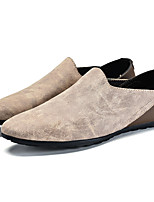 Men's Loafers & Slip-Ons Light Soles Nappa Leather Spring Summer Casual Light Soles Flat Heel Brown Coffee Walking Shoes