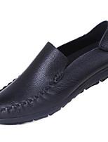 Men's Sneakers Nappa Leather Cowhide Spring Black Coffee Flat