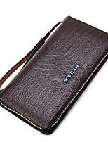 Men Wallet PU All Seasons Formal Casual Office & Career Casual Clutch Zipper Coffee Black