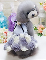 Other Dress Dog Clothes Cute Casual/Daily Wedding Princess Blushing Pink Purple Gray