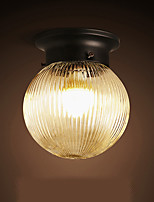 Pendant Light ,  Globe Retro Painting Feature for Crystal Anti-Glare Bulb Included Metal Bedroom Hallway Garage 1 Bulb