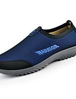 Для мужчин Мокасины и Свитер Удобная обувь Тюль Весна Повседневный Серый Морской синий Тёмно-синий На плоской подошве