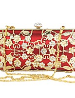 Women PU Plastic Metal Formal Casual Event/Party Wedding Outdoor Office & Career Professioanl Use Wristlet Ruby Pool