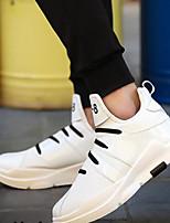 Для мужчин Туфли на шнуровке Удобная обувь Полиуретан Весна Повседневные Удобная обувь Белый Черный Красный На плоской подошве