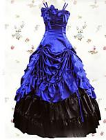 Un Pezzo/Vestiti Gotico Lolita Cosplay Vestiti Lolita Vintage Ad aletta Raso terra Abito Per Altro