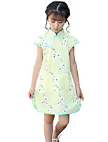 Girl's Sports Polka Dot Dress,Cotton All Seasons Spring Fall Long Sleeve