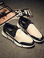 Men's Loafers & Slip-Ons Comfort Tulle Spring Casual Comfort Black Flat
