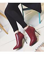 Femme Chaussures à Talons Cuir Polyuréthane Printemps Noir Bourgogne 7,5 à 9,5 cm