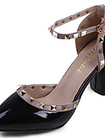 Women's Sandals PU Spring Walking Studded Flat Heel White Black Gray Blushing Pink 2in-2 3/4in