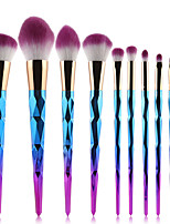 10pcs Makeup Brush Set Synthetic Hair