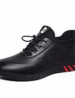 Men's Oxfords Comfort Real Leather Spring Casual Comfort Blue Black Flat