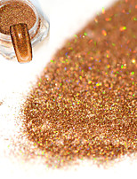 0.2g/bottle Fashion Brown Nail Art DIY Glitter Holographic Fine Powder Laser Shining Decoration Shining Pigment JX09