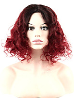Popular Black To Red Ombre Color Synthetic Cosplay Wigs For Women Party Wigs