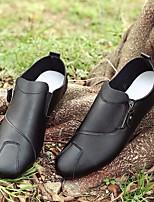 Для мужчин Туфли на шнуровке Удобная обувь Полиуретан Осень Повседневные Удобная обувь На плоской подошве Белый Черный На плоской подошве