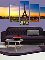 Estampados de Arte Paisagem Moderno,5 Painéis Horizontal Estampado Decoração de Parede For Decoração para casa