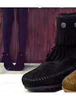 Damen Stiefel PU Winter Schwarz Grau Hellbraun 2,5 - 4,5 cm